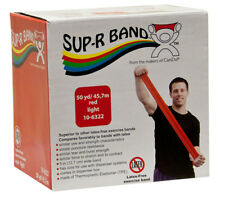 Sup-R Band Latex Free Exercise Band-50 yard roll-Red-light-1615377 10-6322 NEW