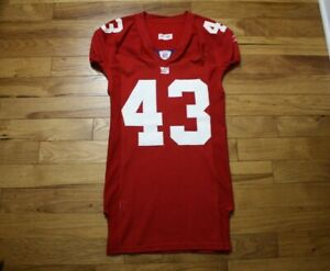 2007 Michael Johnson New York Giants game used jersey from Super Bowl Season