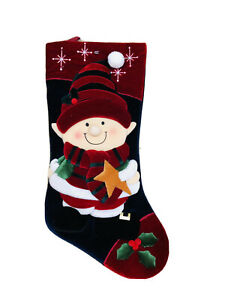 18 In Santa Helper Red Blue Christmas Stocking