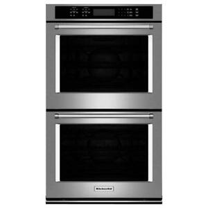 """Kitchenaid Stainless Steel 30"""" Double Convection Wall Oven KODE500ESS"""