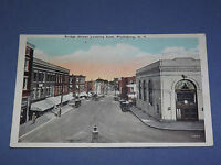 VINTAGE  BRIDGE STREET PLATTSBURG  NEW YORK   POSTCARD