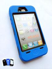 NEUF résistant pour Ouvriers bleu CAS DE BLINDAGE POUR IPHONE 4 & 4S - robuste
