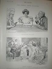 Two Typical Charles Dana Gibson cartoon 1902 prints