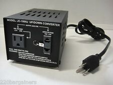 1000 Watt Japan USA Voltage Power Converter Transformer 100 Volt 117/120 Volt