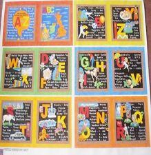 ABC Alphabet royaume-uni Livre coton quilting panel-NUTEX 88cm x 112 cm