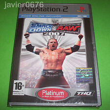 SMACK DOWN VS RAW 2007 NUEVO Y PRECINTADO PAL ESPAÑA PLAYSTATION 2 PS2