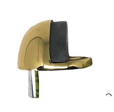 Brainerd B40704D-PL Solid Brass Floor Mount Half Dome Door Stop