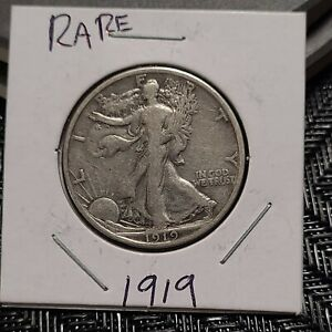 1919 walking liberty half dollar Rare Coin Very Low Mint silver US coin
