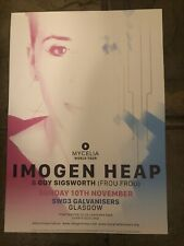 More details for imogen heap - rare concert/gig poster, glasgow, november 2019