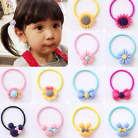 Kids Girls colorful 6pc Hair Band Ties Rope Elastic Hairband Ponytail Holder