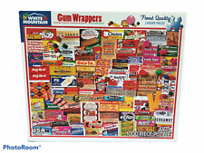 White Mountain Jigsaw Puzzle 1000 piece Gum Wrappers Made in USA