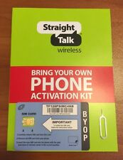 Straight Talk At&T Nano Sim Activation Kit for Byop with 4G Lte