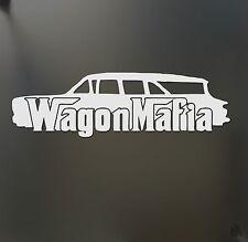 Wagon Mafia !960 chevy Nomad lowered sticker low stance car window decal