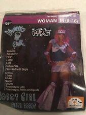 Halloween Costume Woman Robot Girl Chica Robot Medium 8-10 New