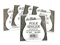 "La Bella Guitar Strings - 5  Low ""E"" 6th Strings Folk Wound Golden Ball End"