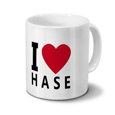 """Tasse mit Namen Hase - Motiv """"I Love Hase"""""""