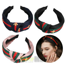 3Pack Wide Cute Turban Headbands for Women Hard Top Bow Cross Knotted Hairbands
