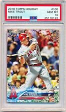2018 Topps Holiday Mike Trout #HMW100 PSA 10 - POP 138 - QTY AVAIL