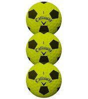 2018 Callaway Chrome Soft Truvis Golf Balls Yellow/Black - 1 Sleeve (3 Balls)