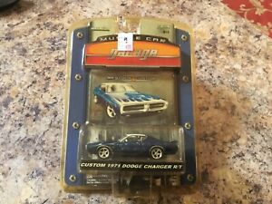 1971 Custom Dodge Charger R/T Blue Greenlight Muscle Car Garage New In Package