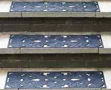 Outdoor Non-Slip Rubber Safety Step Mats 2 Pack - Cuts the risk of slips & falls