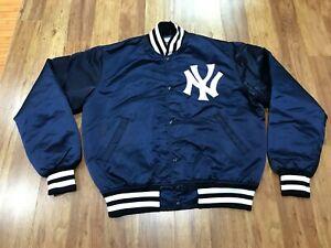 MENS MEDIUM - Vtg MLB New York Yankees Starter Sewn Quilted Snap Jacket