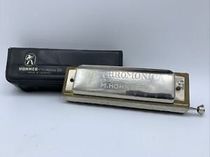 """""""THE CHROMONICA"""" MODEL 260 """"C"""" BY M. HOHNER W/ CASE Made In Germany Harmonica"""