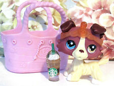Littlest Pet Shop Rare # 1262 Nintendo DS COLLIE Dog Two Colored Eyes LPS