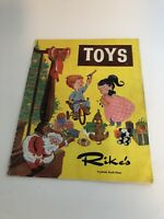 Rike's Toyland sixth  floor Dayton Ohio catalog 50's