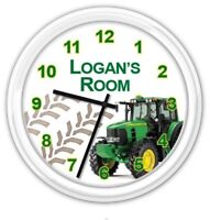 Tractor Personalized Wall Clock  - Farm Bedroom Child Boy JD - GREAT GIFT