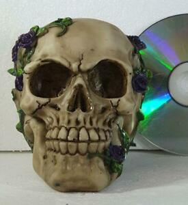 PURPLE ROSE FROM BEYOND SKULL by Nemesis Now gothic gift