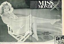 Coupure de Presse Clipping 1980 (6 pages) Miss Monde Gabriella Brum