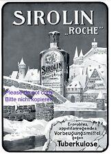 Sirolin Hoffmann Basel XL German 1911 ad advertising Medicine vs. tuberculosis +