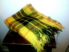 Vtg Craig-Na-Creidhe Dress Mcleod Pure Mohair Wool Scotland Plaid Throw Blanket