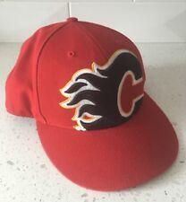 CALGARY FLAMES Adjustable Big Logo Hat - NHL Hockey Snapback Cap