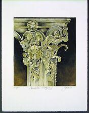 "Original Mixed Media Mono Print by Liz Jardine ""Cornthian Kings II"""