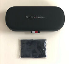 New Tommy Hilfiger Case Sunglasses Eyeglasses Hard Clam Shell Case Blue Small