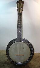 "1920's Bruno / Maxitone ""Concert""  Resonator Banjo Uke Banjolele"