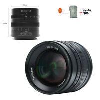 7artisans 55mm F1.4 APS-C Manual Focus Lens For Fuji FX Mount X-M1/ X-T1/X-Pro1