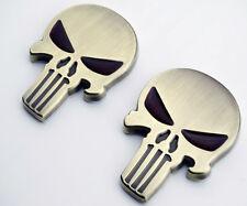 Skull Emblem Badge Decal Harley Tank Dyna Sportster 883 1200 Fatboy Softail 2X
