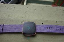 Fitbit Versa Peach/Rose Gold Aluminum Special Edition Lavender Band- No Box