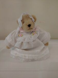 Muffy VanderBear Christening Muffy in a Rose Bud Trimmed Christening Outfit
