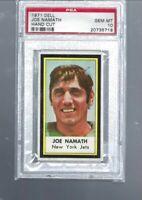 1971 DELL  JOE NAMATH  Hand Cut   GEM MT  PSA 10