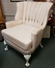 Restored Upholstered Early 20th Century English Wingback Armchair