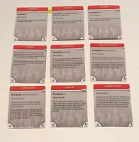 Heroclix Icons 9 x Feat Cards USED BF DC