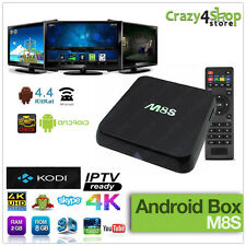 M8S 4K ANDROID BOX TV BOX SMART TV IPTV QUAD CORE RAM 2GB MINI PC WIFI M8s S812
