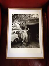 Helmut Newton - Poster Affiche Photo - Domestic Nude VIII And Old Plymouth