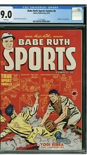 1950 Babe Ruth Sports Comics #8 CGC 9.0 Yogi Berra Cover Harvey Publications HOF
