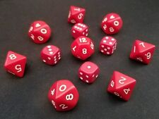 Dice Set 12x Red & White D6 D8 D10 D12 GW D&D RPG CHESSEX FREE SHIPPING!