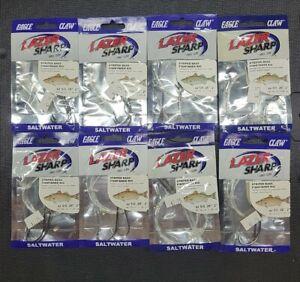8 Pack Eagle Claw L921 Lazer Sharp Striped Bass Hi-Lo Clam Fishing Rig 5/0